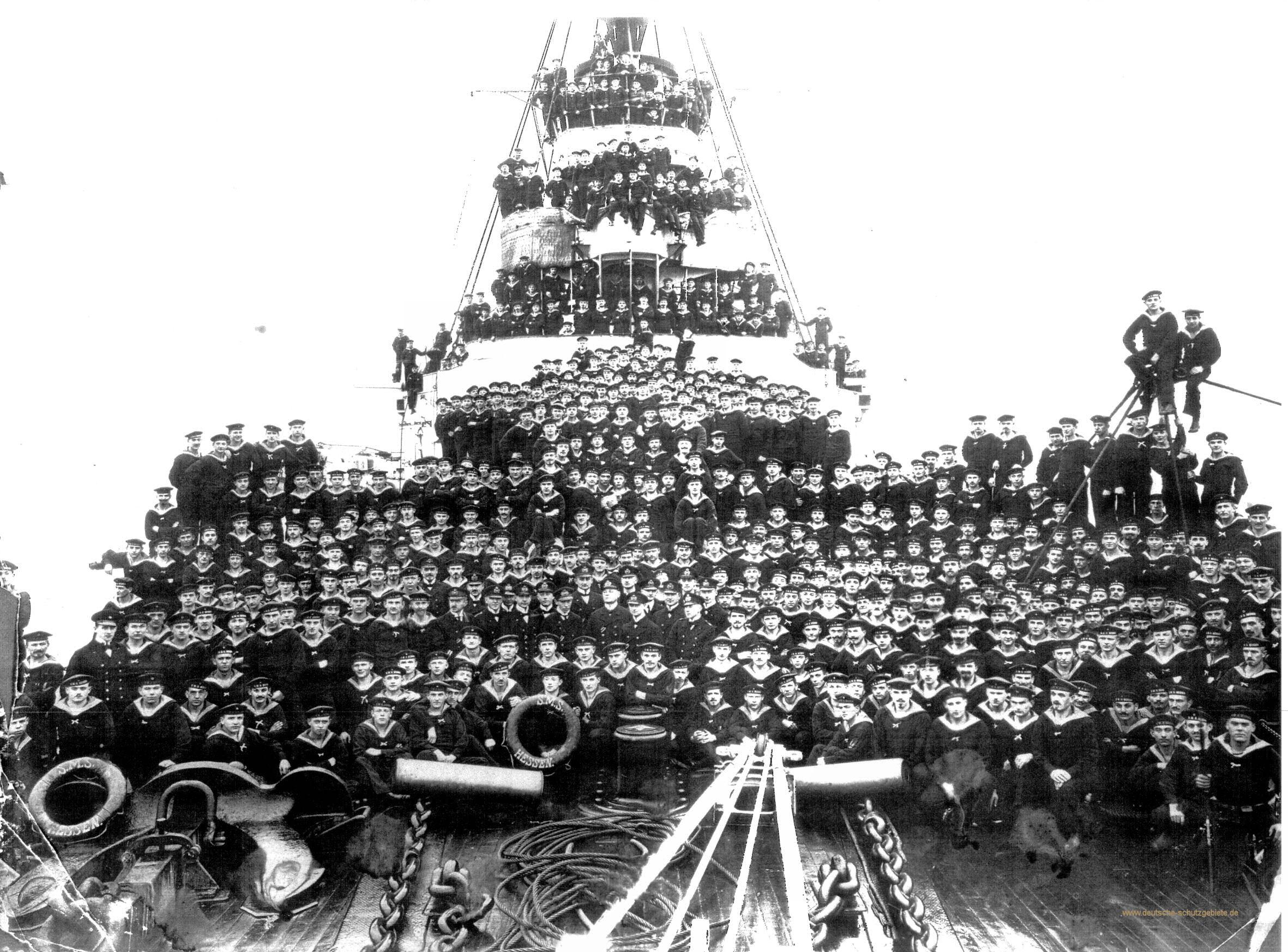 S.M.S. Hessen, Besatzung 1915