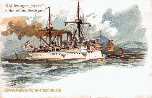 S.M. Kreuzer Irene in den chinesischen Gewässern