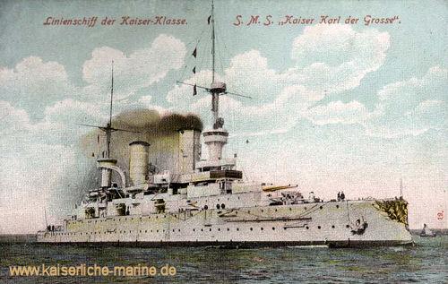 S.M.S. Kaiser Karl der Große, Linienschiff der Kaiserklasse