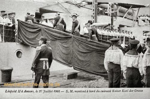 S.M.S. Kaiser Karl der Große, Feier zum 75jährigem Bestehen Belgiens in Antwerpen