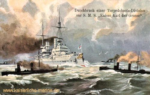 S.M.S. Kaiser Karl der Große, Durchbruch einer Torpedoboots-Division