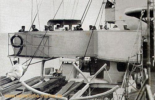 S.M.S. Kaiser Wilhelm II. - Auf der Brücke - Flottenchef von Koester und sein Stabschef Breusing