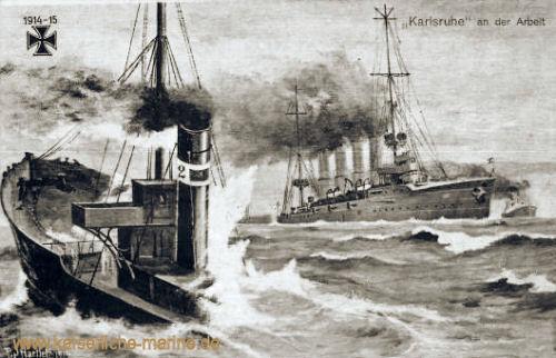 S.M.S. Karlsruhe an der Arbeit