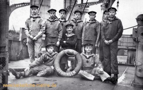S.M.S. Lothringen, Besatzungsmitglieder
