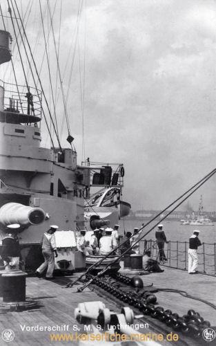 S.M.S. Lothringen, Vorderschiff