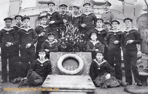 S.M.S. Lothringen, Besatzungsmitglieder Weihnachten 1918