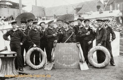 S.M.S. Luchs, Besatzungsmitglieder 1901 -1904