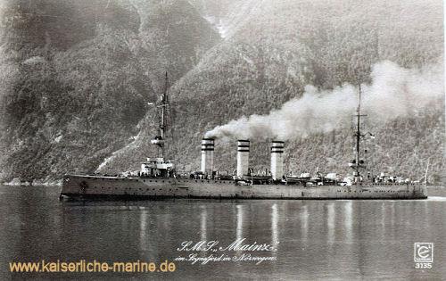 S.M.S. Mainz im Sognefjord in Norwegen