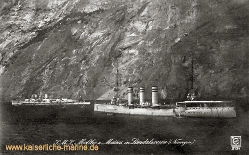 S.M.S. Moltke und S.M.S. Mainz in Norwegen