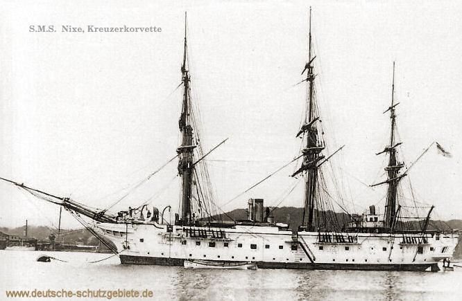 S.M.S. Nixe, Kreuzerkorvette