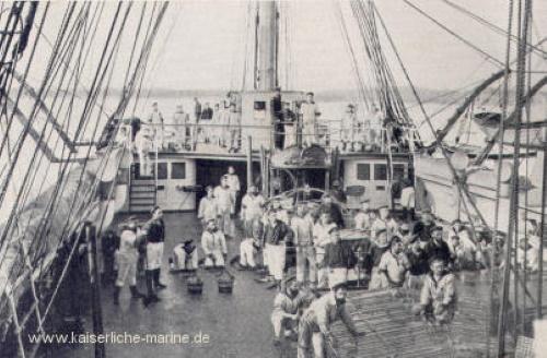 S.M.S. Prinz Adalbert, Rein Schiff, Achterdeck