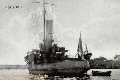 S.M.S. Ulan nach Umbau mit einem Schornstein