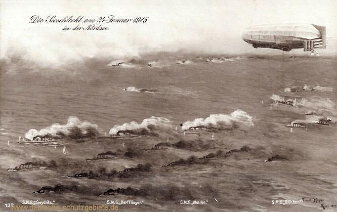 Die Seeschlacht am 24. Januar 1915 in der Nordsee (Doggerbank)