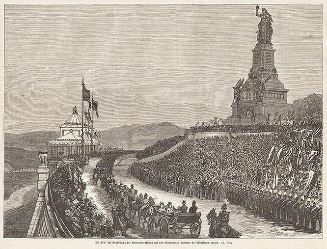 Die Feier der Enthüllung des Nationaldenkmals auf dem Niederwald.
