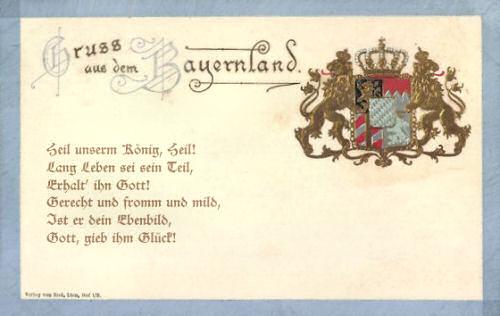 Bayerische Königshymne: Heil unserm König, Heil!