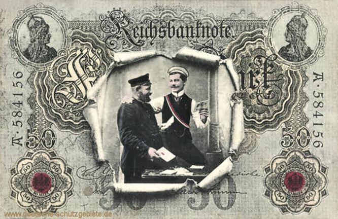 Reichsbanknote 50 Mark, Postkarte