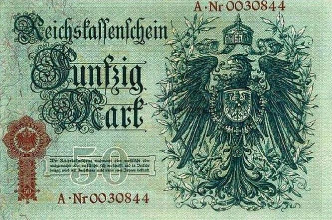 Reichskassenschein 50 Mark 05.01.1899 Rückseite