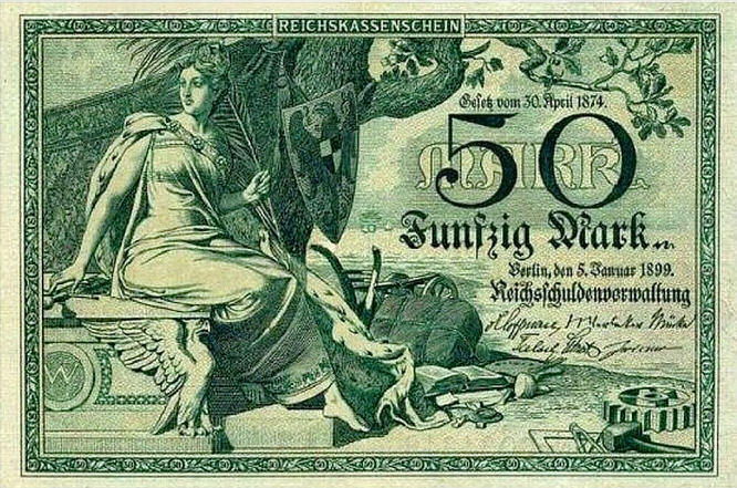 Reichskassenschein 50 Mark 05.01.1899 Vorderseite