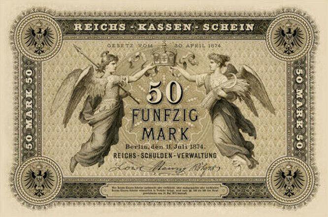 Reichskassenschein 50 Mark 11.07.1874 Vorderseite
