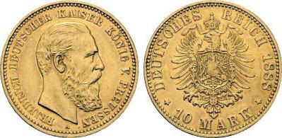 Deutsches Reich 10 Mark 1888 (Preußen)