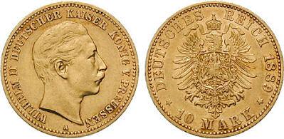 Deutsches Reich 10 Mark 1889 (Preußen)