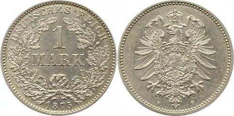 Deutsches Reich 1 Mark 1875
