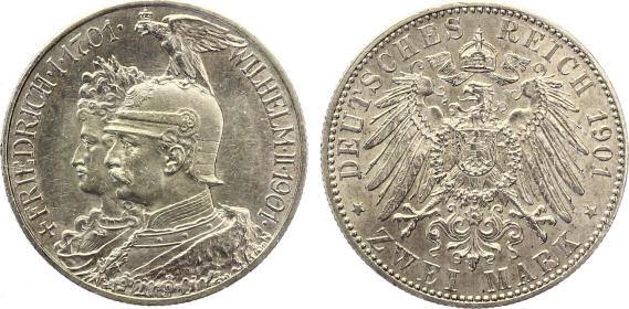 Deutsches Reich 2 Mark 1901 (Preußen)