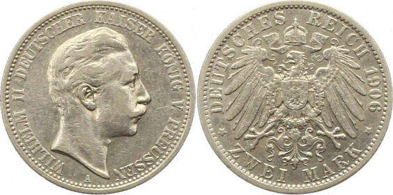 Deutsches Reich 2 Mark 1906 (Preußen)