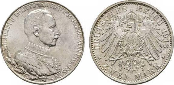 Deutsches Reich 2 Mark 1913 (Preußen)