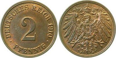 Deutsches Reich 2 Pfennig 1910
