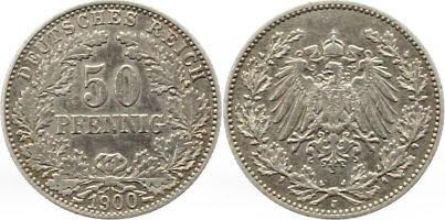 Deutsches Reich 50 Pfennig 1900