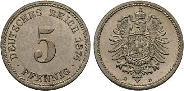 Deutsches Reich 5 Pfennig 1874