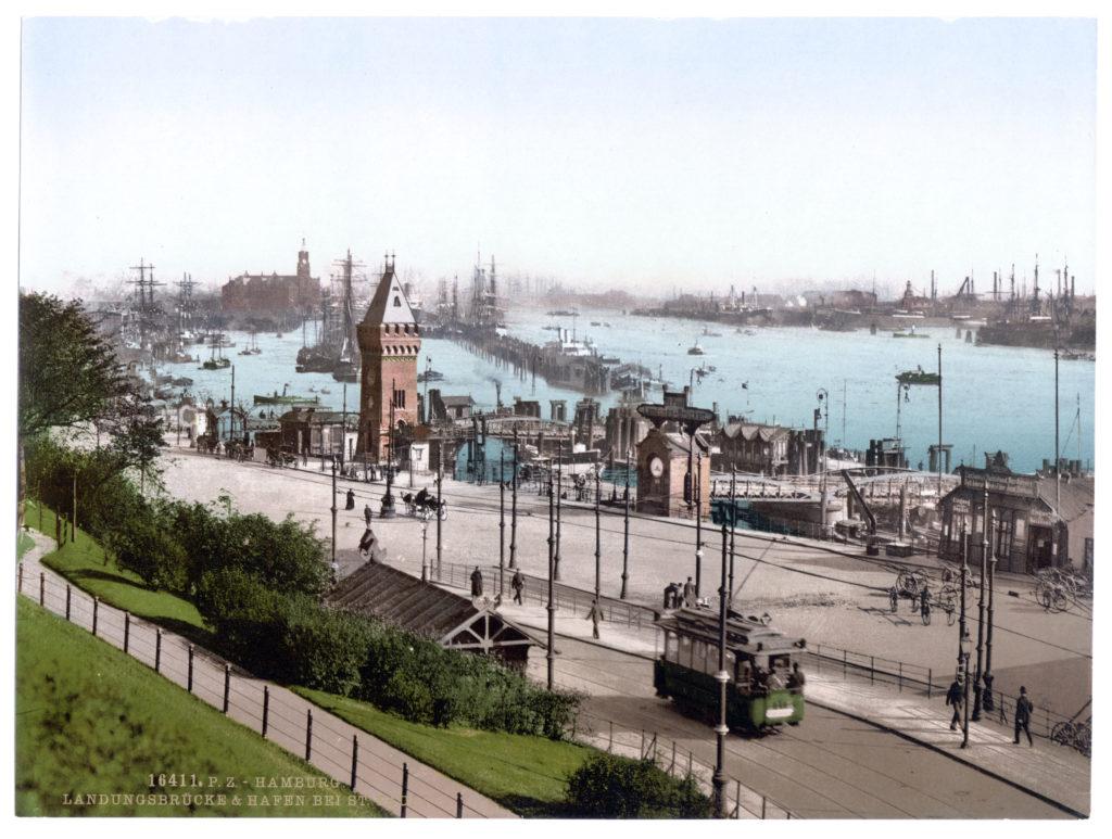 Hamburg Landungsbrücke Hafen bei St. Pauli