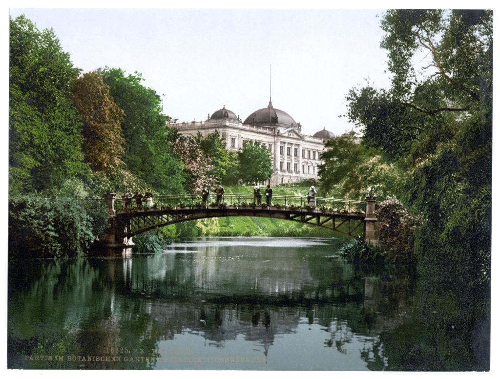 Hamburg Partie im Botanischen Garten & Zolldirectionsgebäude
