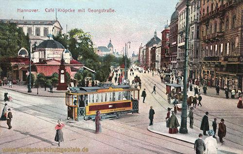 Hannover, Cafe Kröpke mit Georgstraße