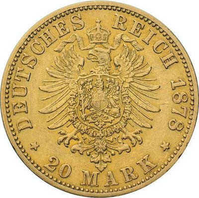 Wertseite 20 Mark 1874-1889