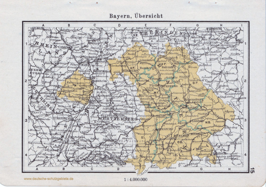 Landkarte Bayern Übersicht