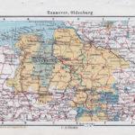Landkarte Hannover, Oldenburg, Braunschweig