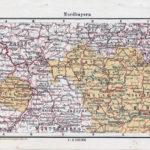 Landkarte Nord-Bayern (mit Pfalz)