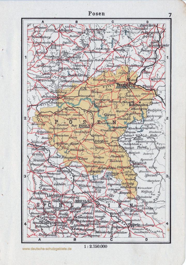 Landkarte Posen