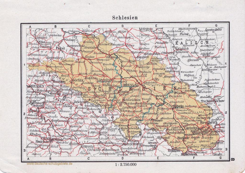 Landkarte Schlesien