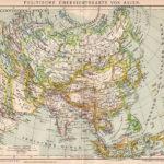 Politische Übersichtskarte von Asien (1892)