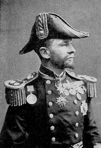 Englischer Vizeadmiral Sir F. H. Seymour, Kommandeur der Landungstruppen.