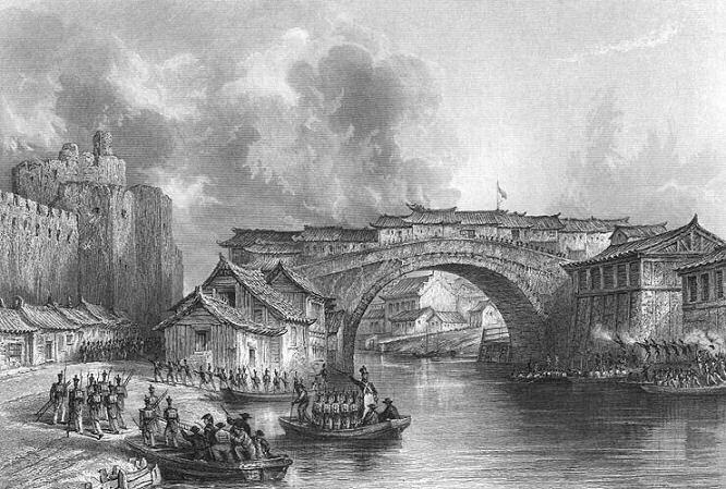 China Zhenjiang City Walls British Army Opium War 1842