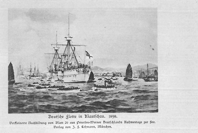 Deutsche Flotte in Kiautschau 1898