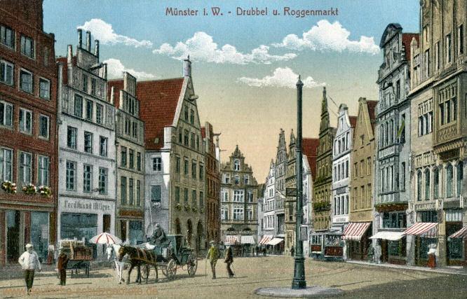 Münster i. W., Drubbel und Roggenmarkt
