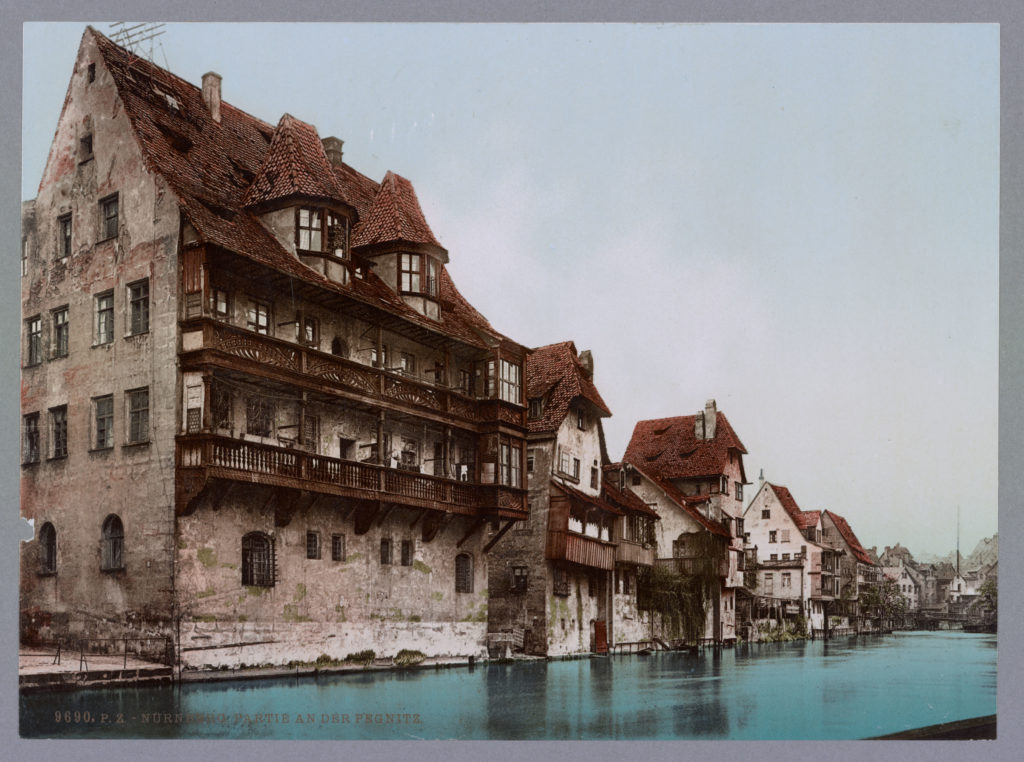 Nürnberg. Partie an der Pregnitz