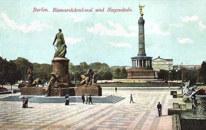 Berlin, Bismarckdenkmal und Siegessäule
