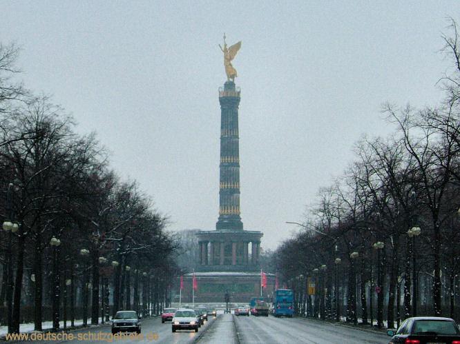 Berlin, Siegessäule im Februar 2005