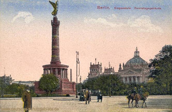Berlin, Siegessäule, Reichstag